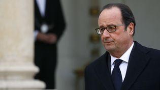 François Hollande à la sortie du conseil des ministres, le 21 décembre 2016. (PATRICK KOVARIK / AFP)