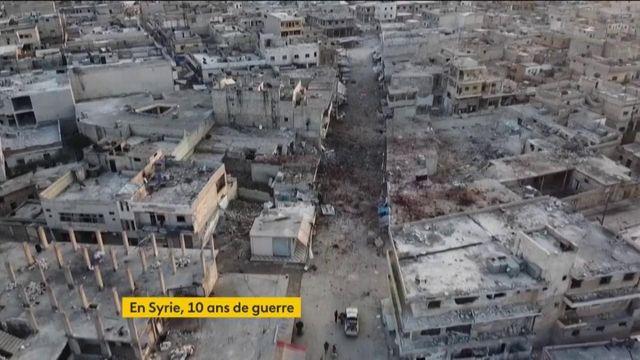 Syrie : après dix ans de guerre, un pays détruit et des centaines de milliers de morts