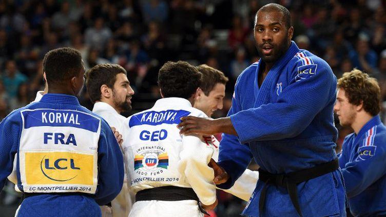 Teddy Riner cherchera à accrocher une nouvelle médaille d'or à son palmarès. (PASCAL GUYOT / AFP)