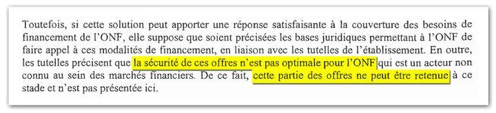 Extrait du procès-verbal du conseil d'administration de l'ONF du 24 septembre 2012. (DR)