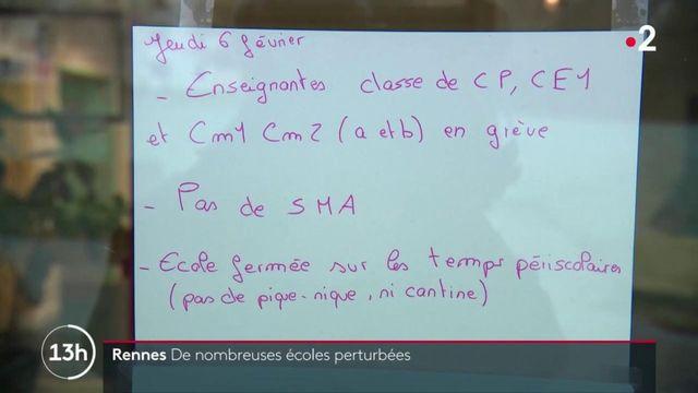 Rennes : dix établissements scolaires sur 82 en grève contre la réforme des retraites