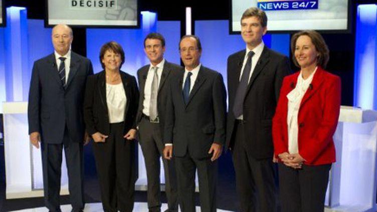 Les six candidats à la primaire socialiste (FRED DUFOUR / AFP)