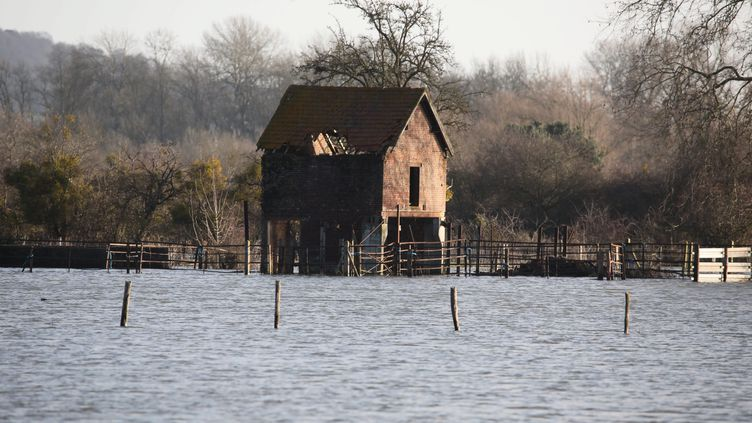 L'Oise lors d'une précédente crue à Sempigny (Oise), le 11 février 2020. (MAXPPP)