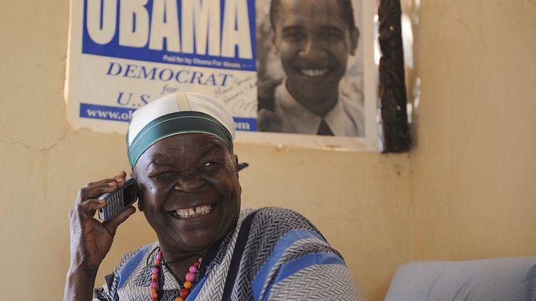 Mama Sarah Obama, grand-mère de Barack Obama, le 29 août 2008 à Kisumu (Kenya). (SIMON MAINA / AFP)