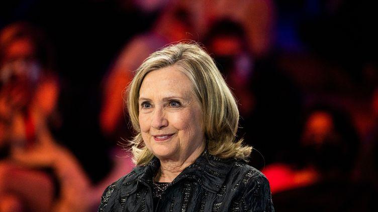 Hillary Clinton, l'ancienne secrétaire d'Etat américaine, lors du forum Génération égalité à Paris le 30 juin 2021. (XOSE BOUZAS / HANS LUCAS / AFP)