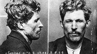 Deux photographies judiciaires de Guillaume Seznec, condamné aux travaux forcés à perpétuité en 1924 pour le meurtre de Pierre Quémeneur. (- / AFP)