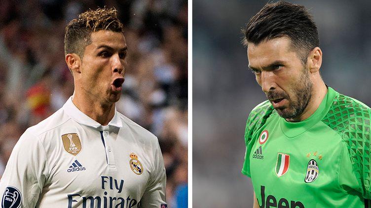Cristiano Ronaldo (Real Madrid) face à Gianluigi Buffon (Juventus Turin)