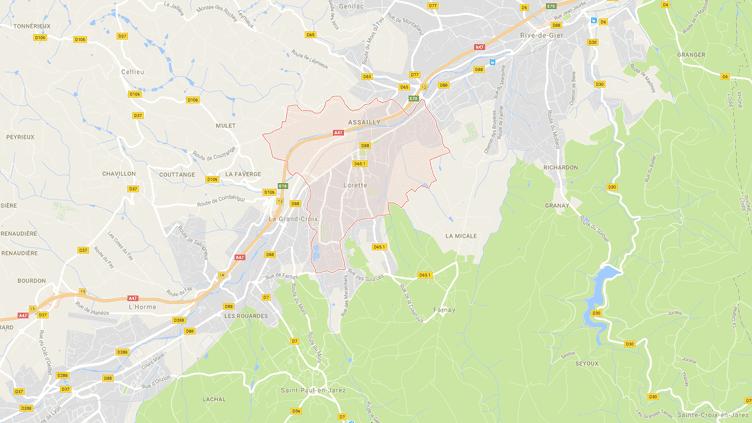 Carte de localisation deLorette, dans la Loire. (GOOGLEMAPS)