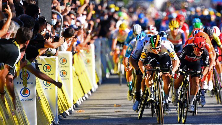 Comme à Sisteron, un sprint est attendu et Sam Bennett sera revanchard. (STUART FRANKLIN / AFP)