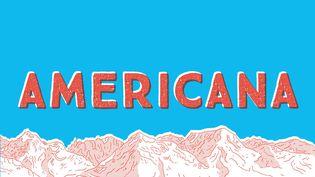 """Détail de la couverture de """"Americana"""", de Luke Healy (CASTERMAN)"""