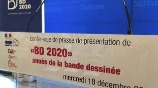 """Le 18 décembre 2019 a été présenté le projet """"BD 2020"""" par le ministre de la Culture Franck Riester. (FRANCIS FORGET)"""