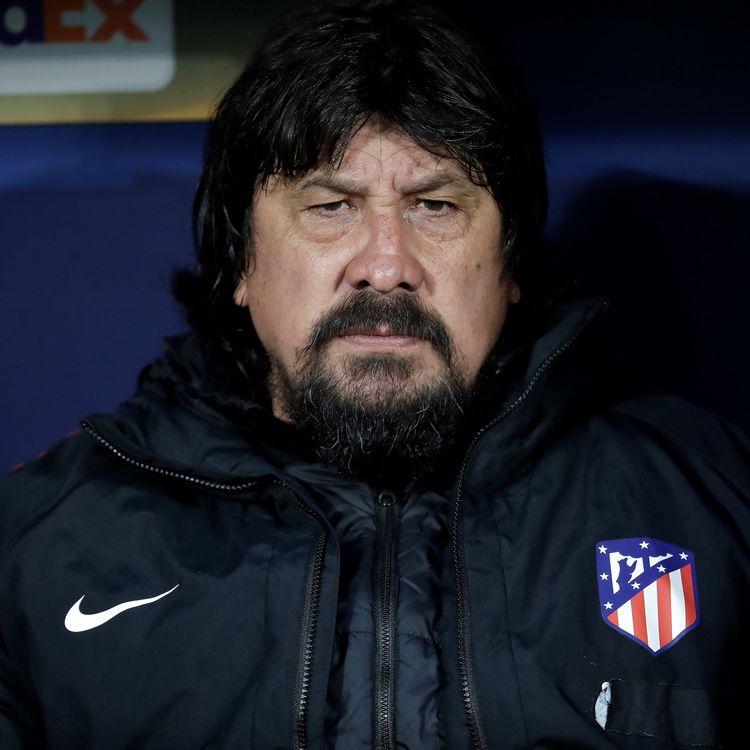 German Burgos, l'entraîneur adjoint de l'Atlético Madrid, le 3 mai 2018 à Madrid (Espagne) lors du match face à Arsenal. (BURAK AKBULUT / ANADOLU AGENCY)