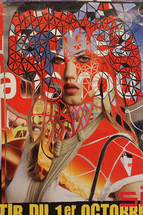 Femme-au-chapeu-(Charlotte), de l'artiste Thom Thom qui joue avec les codes de la publicité pour en détourner le sens.  (Thom Thom)