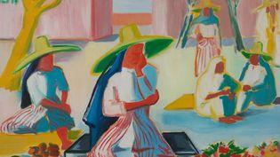 """Détail """"femmes de Tanger"""" - 1949 - huile sur toile, 73x92 cm, Collection privée  (Ch. KEMPF)"""