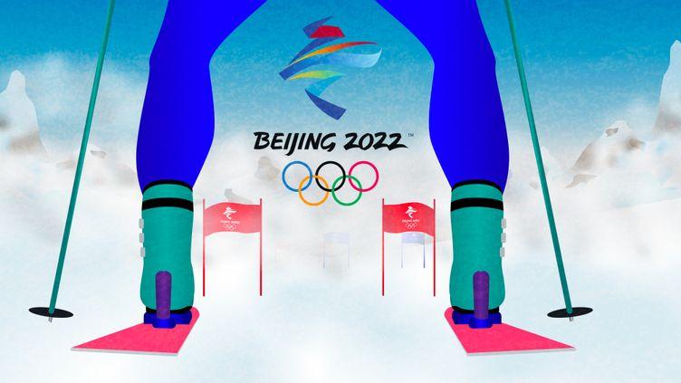 Avec l'annulation des épreuves tests à cause de la pandémie mondiale decovid-19 lors de la saison 2020-2021, les athlètes françaisn'ont que très peu d'informations sur ce qui les attend à Pékin en février prochain. (Florian Parisot/franceinfo: sport)