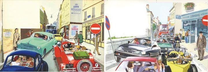 L'automobile de Caroline, 1957 - Caroline et son automobile, 1983  (Pierre Probst - Hachette)