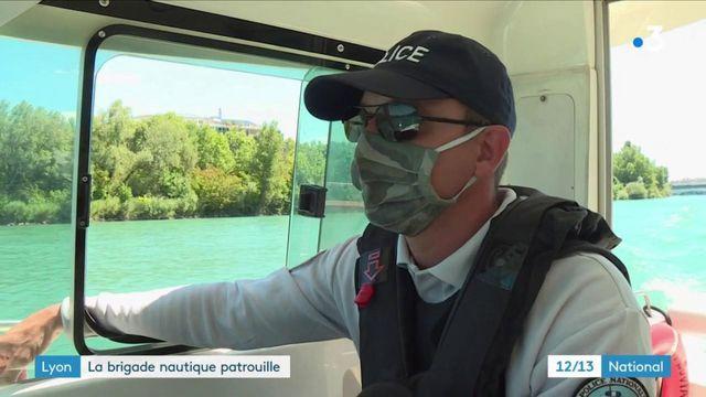 Lyon : la brigade nautique patrouille