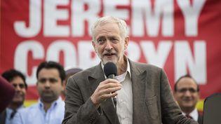 Jeremy Corbyn,candidat à la tête du Parti travailliste, lors d'un meeting à Bradford (Royaume-Uni), le 7 août 2015. (MAXPPP)