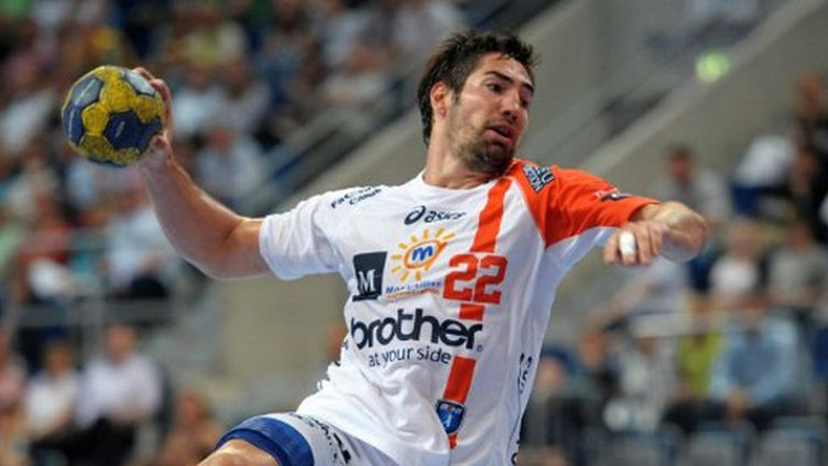 """La """"star"""" de Montpellier Nikola Karabatic (RONALD WITTEK / DPA)"""