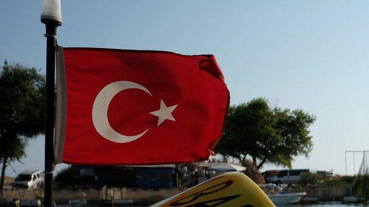 Antalya (Turquie), le 25 juillet 2014. Drapeau turc arboré par le petit bateau à moteur d'un hôtel.  (Natalia Seliverstova/Sputnik)