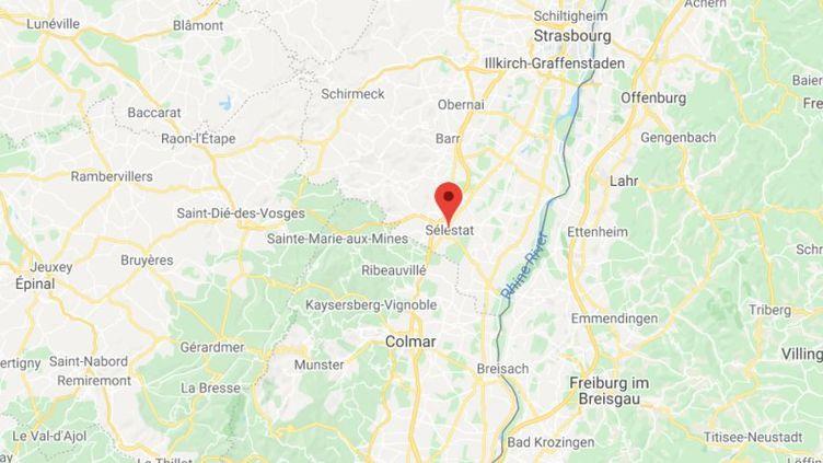 La commune de Sélestat dans le Bas-Rhin. (GOOGLE MAPS / FRANCETV INFO)