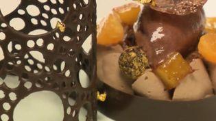 Pour ce cinquième épisode, France 2 vous invite dans les derniers préparatifs du repas de fête : le chef Éric Pras dresse les assiettes tandis que la pâtissière prépare le dessert. (FRANCE 2)