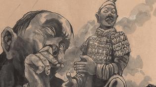 Le dessin à la fois réaliste et poétique de Li Kunwu exposé au musée Toulouse-Lautrec d'Albi.  (France 3 / Culturebox - capture d'écran)