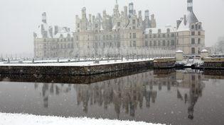 Le château de Chambord sous la neige, le 6 février 2018. (MAXPPP)
