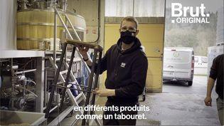 VIDEO. Il fait des meubles avec des résidus de bière (BRUT)