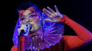 Björk sur scène à Berlin, au Spandau Citadel, le 2 août 2015  (Britta Pedersen / ZB / AFP)