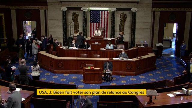 États-Unis : le Congrès valide un important plan de relance