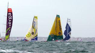 Le départ du 7e Vendée Globe, le 10 novembre 2012. (DAMIEN MEYER / AFP)
