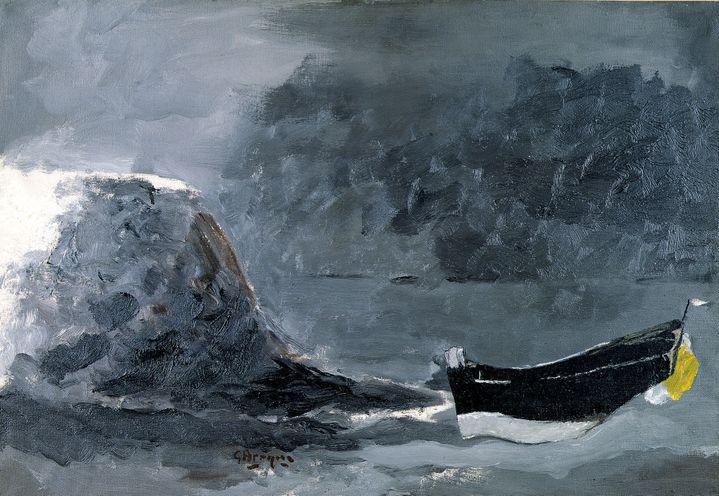 """Georges Braque """"Marine noire"""", 1960, Suisse, Genève, Collection particulière (Helly Namhad) (© Paris, ADAGP 2019)"""