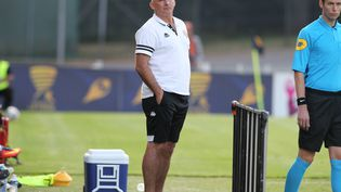 L'entraîneur du Stade lavallois François Ciccolini. (JEAN-FRAN?OIS QUINEB?CHE / MAXPPP)