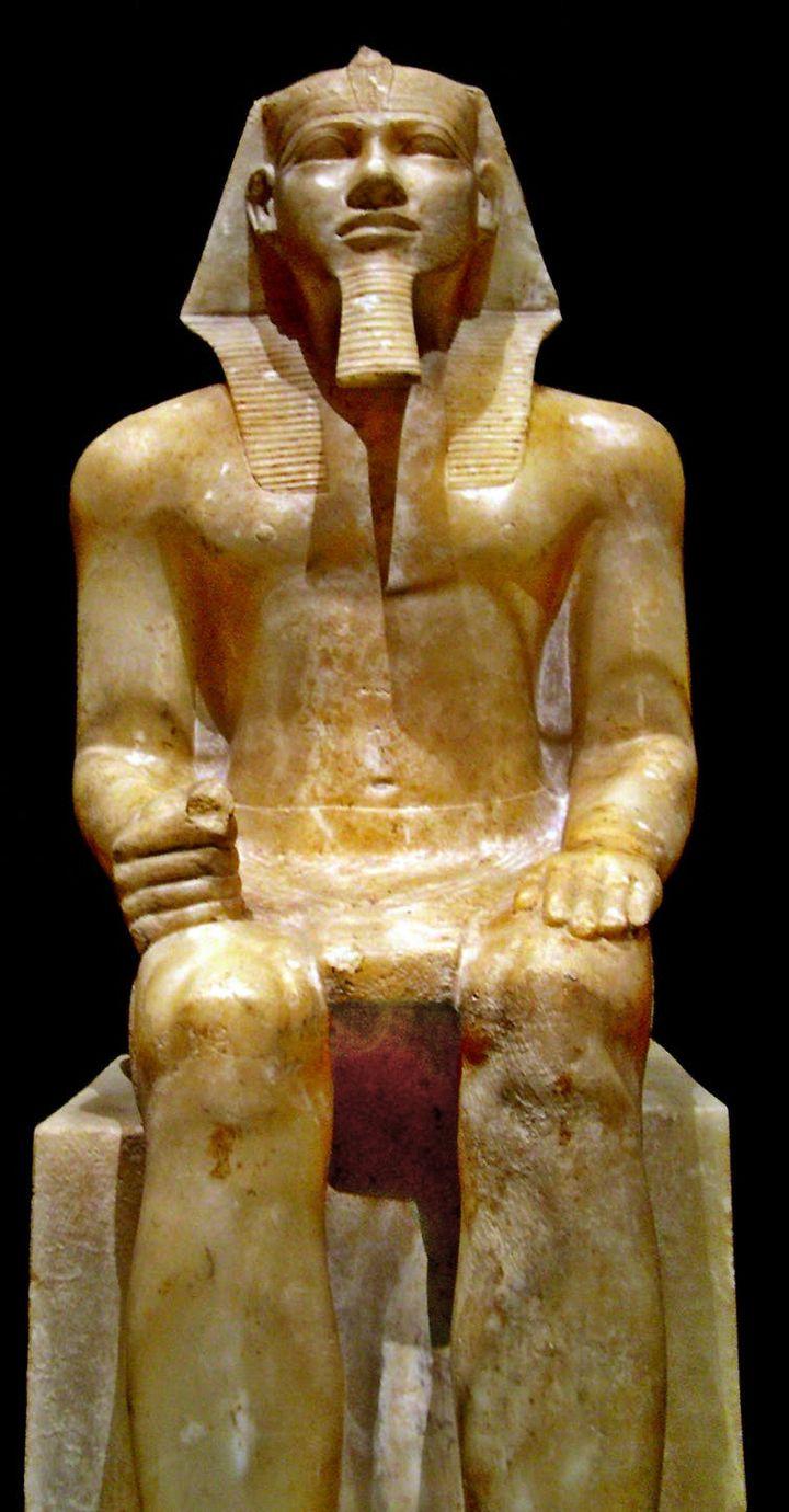 Statue de Khéphren, musée du Caire. (José-Manuel Benito Álvarez/Wikipedia, CC BY-SA)