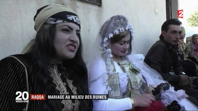 Raqqa : mariage haut en couleur au milieu des ruines
