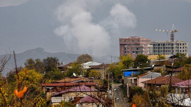 Les combats continuent dans le Haut-Karabakh (illustration, le 06 Novembre 2020) (KAREN MINASYAN / AFP)