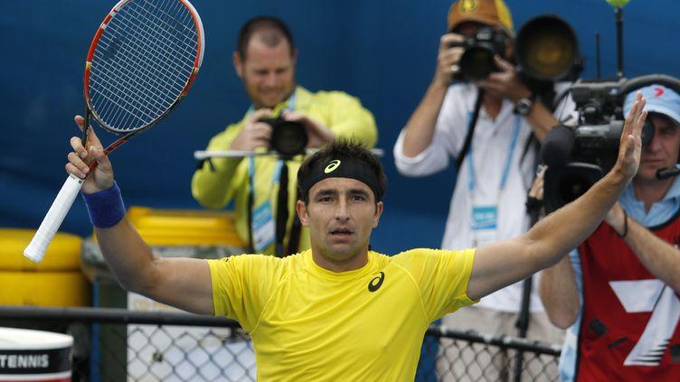 L'Australien Marinko Matosevic, le 8 janvier 2014, au tournoi de tennis de Sydney (Australie). (JASON REED / REUTERS)