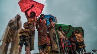 Une famille rohyinga au Bangladesh, le 7 janvier 2017. (STRINGER / ANADOLU AGENCY)