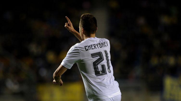 Denis Cheryshev était heureux d'avoir ouvert le score pour le Real (CRISTINA QUICLER / AFP)
