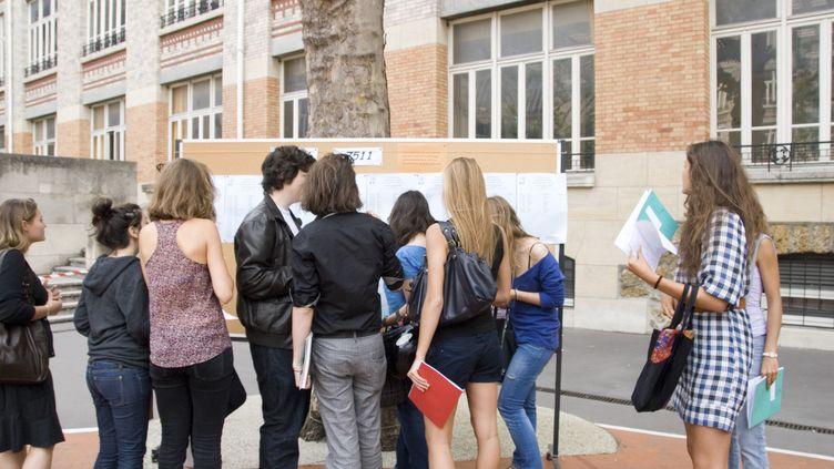 résultats du bac en 2009 au lycéeJules Ferry à Paris (TILL JACKET / AFP )