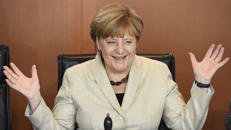 La chancelière allemande, Angela Merkel, avant un Conseil des ministres, à Berlin, le 29 septembre 2015. (TOBIAS SCHWARZ / AFP)