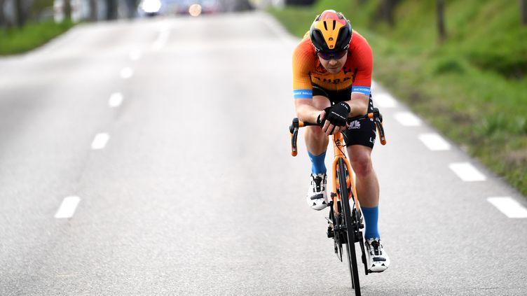 Jan Tratnik remporte son premier succès d'étape sur un grand tour (ALAIN JOCARD / AFP)