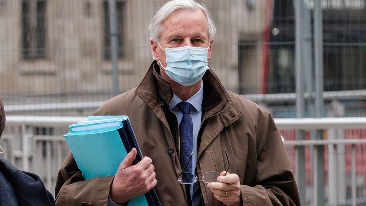 Le négociateur européen Michel Barnierà Londres (Royaume-Uni), le 2 décembre 2020. (WIKTOR SZYMANOWICZ / NURPHOTO / AFP)