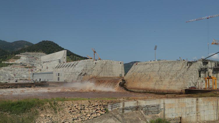 Selon l'Ethiopie, le barrage de la Renaissance sur le Nil bleu est construit à 70%. Sur la photo prise le 26 septembre 2019, on voit que les eaux du fleuve ne sont pas encore retenues. (TIKSA NEGERI / X03719)