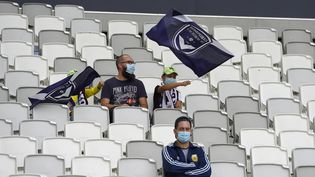 Le match d'ouverture de la saison de Ligue 1, entre Bordeaux et Nantes, s'est jouédevant un peu moins de 5 000 spectateurs, malgré la demande de dérogation du club girondin. (NICOLAS TUCAT / AFP)