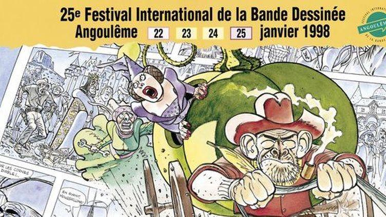 L'affiche des 25 ans du festival  (Festival International de la Bande Dessinée d'Angoulême)