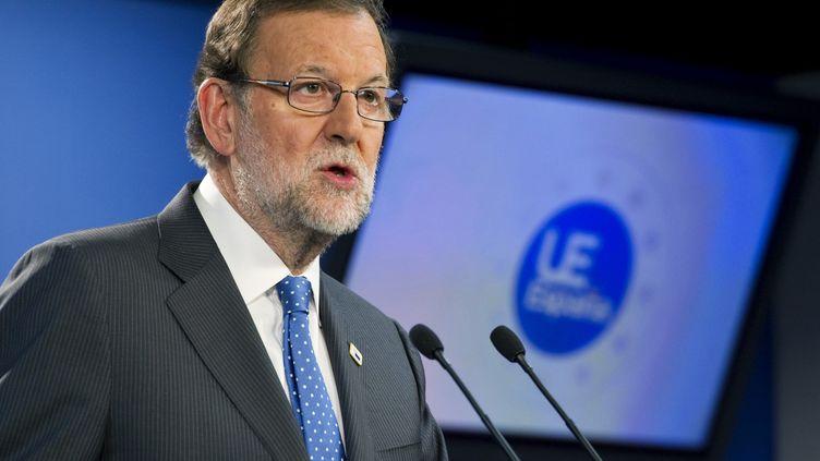 Le Premier ministre Mariano Rajoy lors d'une conférence de presse à Bruxelles, le 21 octobre 2016. (MAXPP)