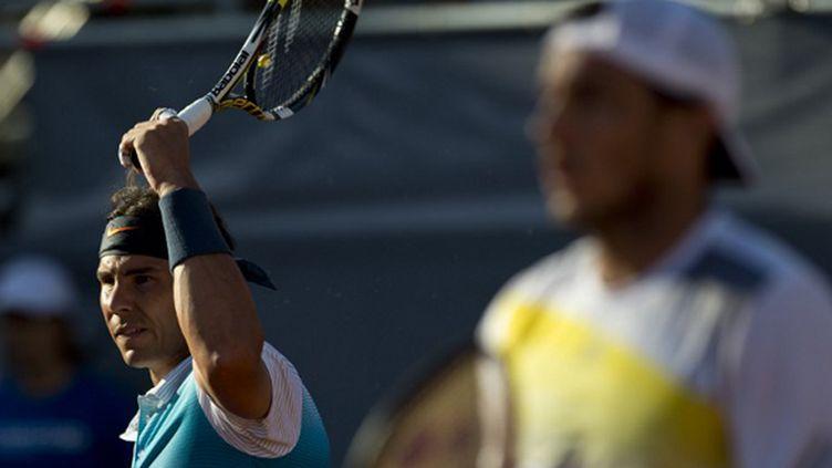 Rafael Nadal et Juan Monaco en double à Vina del Mar (MARTIN BERNETTI / AFP)