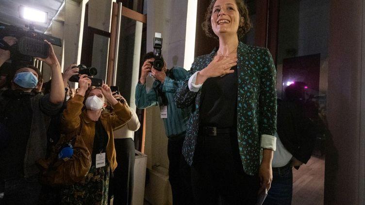 L'écologiste Jeanne Barseghian élue maire de Strasbourg (Bas-Rhin), le 28 juin 2020, lors du second tour des municipales. (PATRICK HERTZOG / AFP)